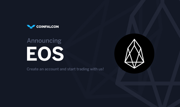 EOS is Coming to CoinFalcon